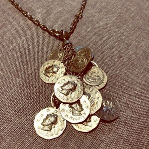 Vintage Pressed Coin Necklace